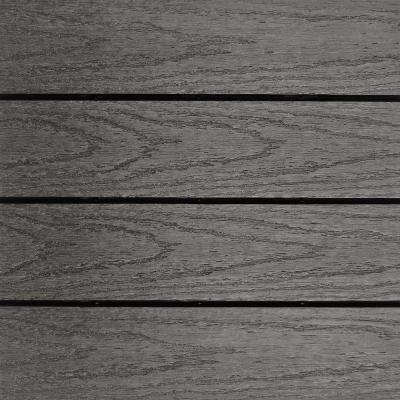 UltraShield Naturale 1 ft. x 1 ft. Quick Deck Outdoor Composite Deck Tile Sample in Argentinian Silver Gray