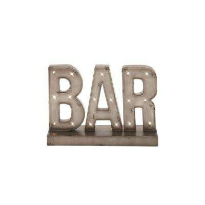 Gray Bar Marquee LED Lighted Sign