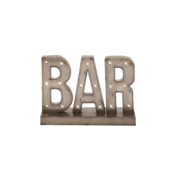 Gray Bar Marquee Led Lighted Sign 48648 The Home Depot