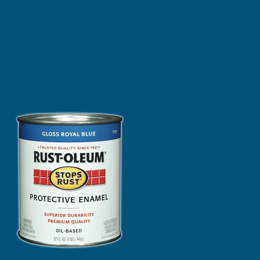 1 Qt. Protective Enamel Gloss Royal Blue Interior/Exterior Paint
