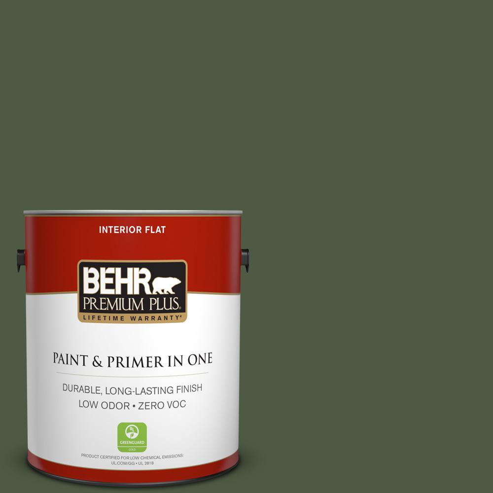 BEHR Premium Plus 1-gal. #420F-7 Forest Ridge Zero VOC Flat Interior Paint