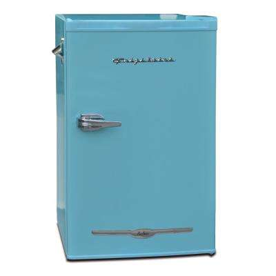 3.2 cu. ft. Retro Mini Refrigerator in Blue
