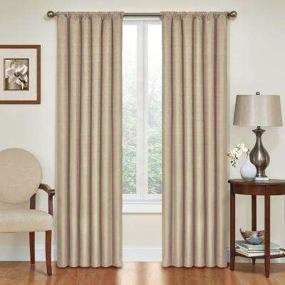 Kendall Blackout Window Curtain Panel in Light Grey - 42 in. W x 54 in. L