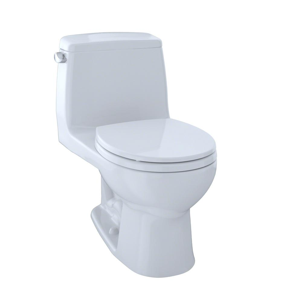 TOTO Ultimate 1-Piece 1.6 GPF Single Flush Round Toilet in Cotton ...
