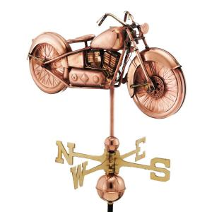 Good Directions Motorcycle Weathervane - Pure Copper by Good Directions