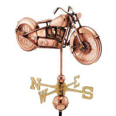 Motorcycle Weathervane - Pure Copper