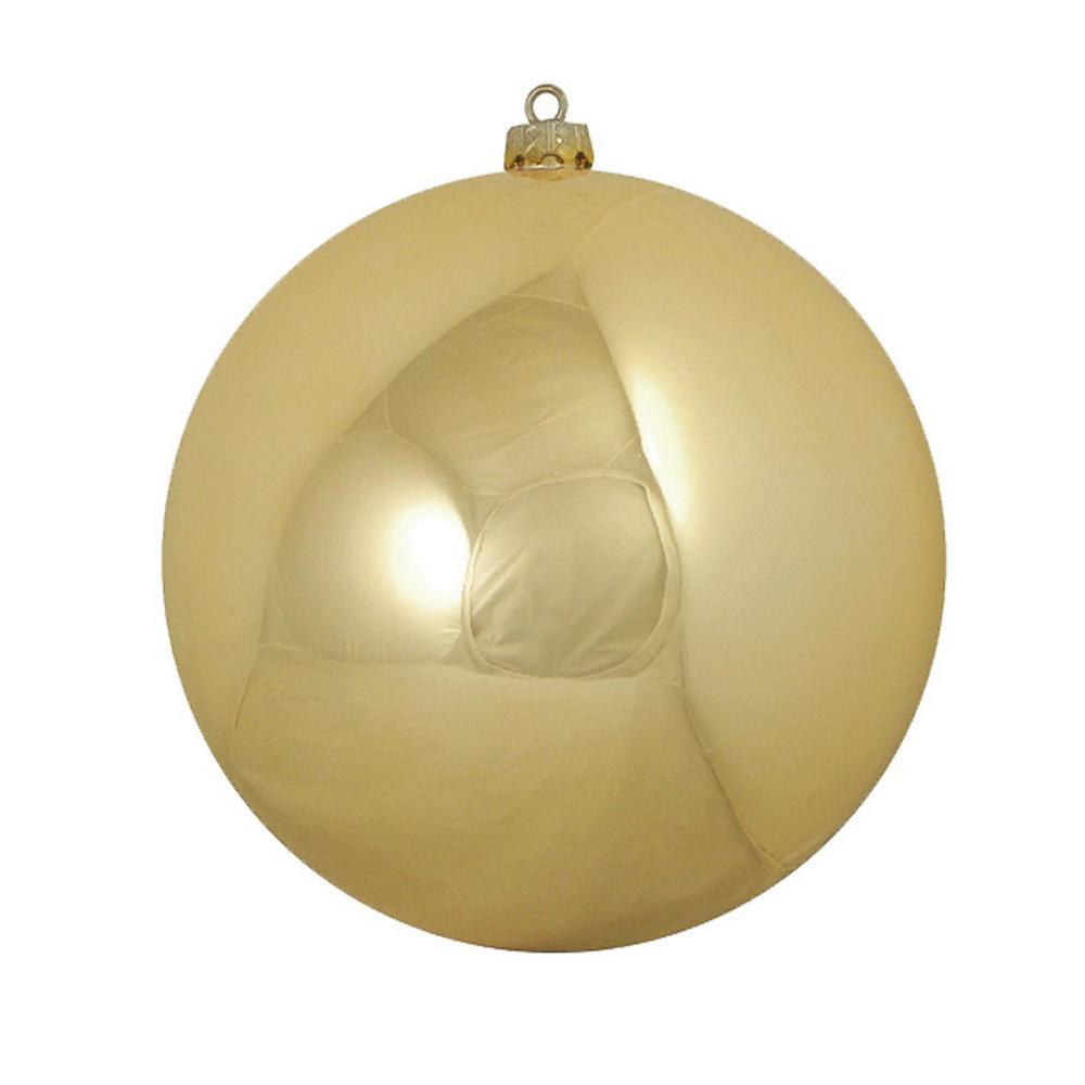 Northlight Shatterproof Shiny Vegas Gold Uv Resistant Commercial Christmas Ball Ornament