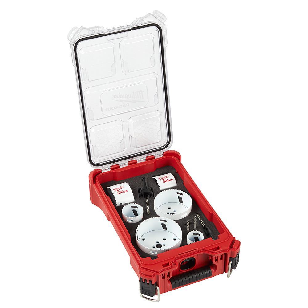 Hole Dozer Bi-Metal General Purpose Hole Saw Set with PACKOUT Compact Organizer (10-Piece)