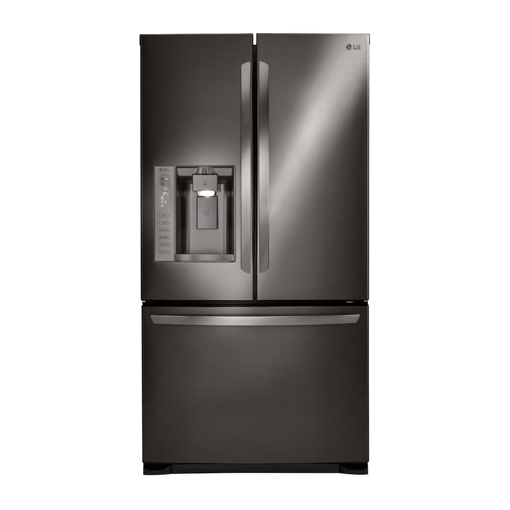 24 cu. ft. 3 Door French Door Refrigerator with Ice and