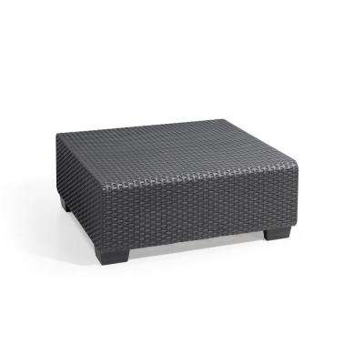 Salta Graphite Resin Outdoor Garden Patio Coffee Table