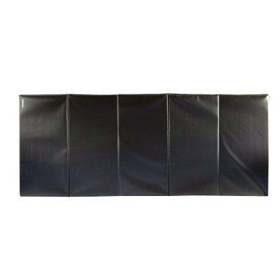 Folding Black 4 ft. x 10 ft. x 2 in. 18 oz. Vinyl and Foam Gymnastics Mat