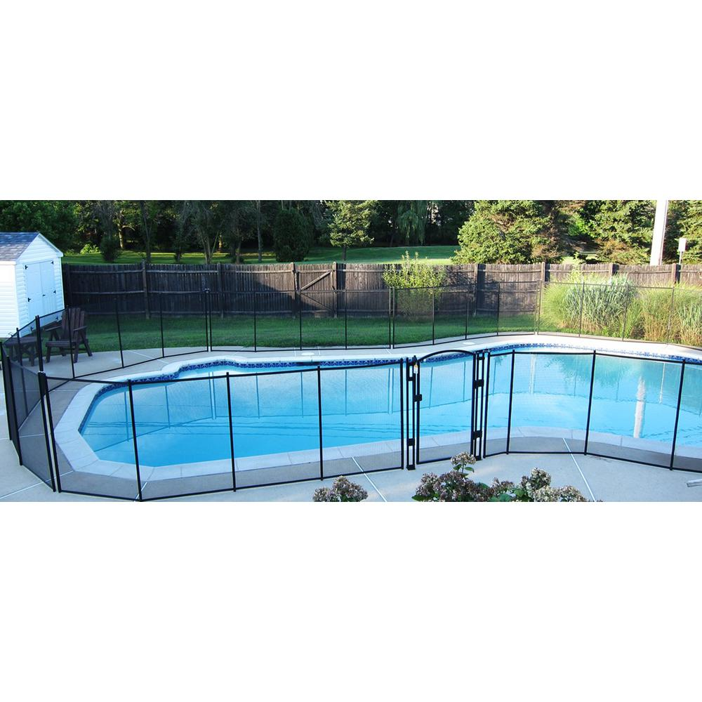 Details about 5 X 10 Feet Removable Child Barrier Pool Safety Mesh Fence In  Ground Brown
