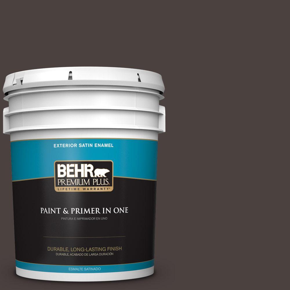5 gal. #PPU5-20 Sweet Molasses Satin Enamel Exterior Paint