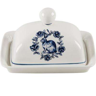 7 in. Rabbit Butter Dish with Lid