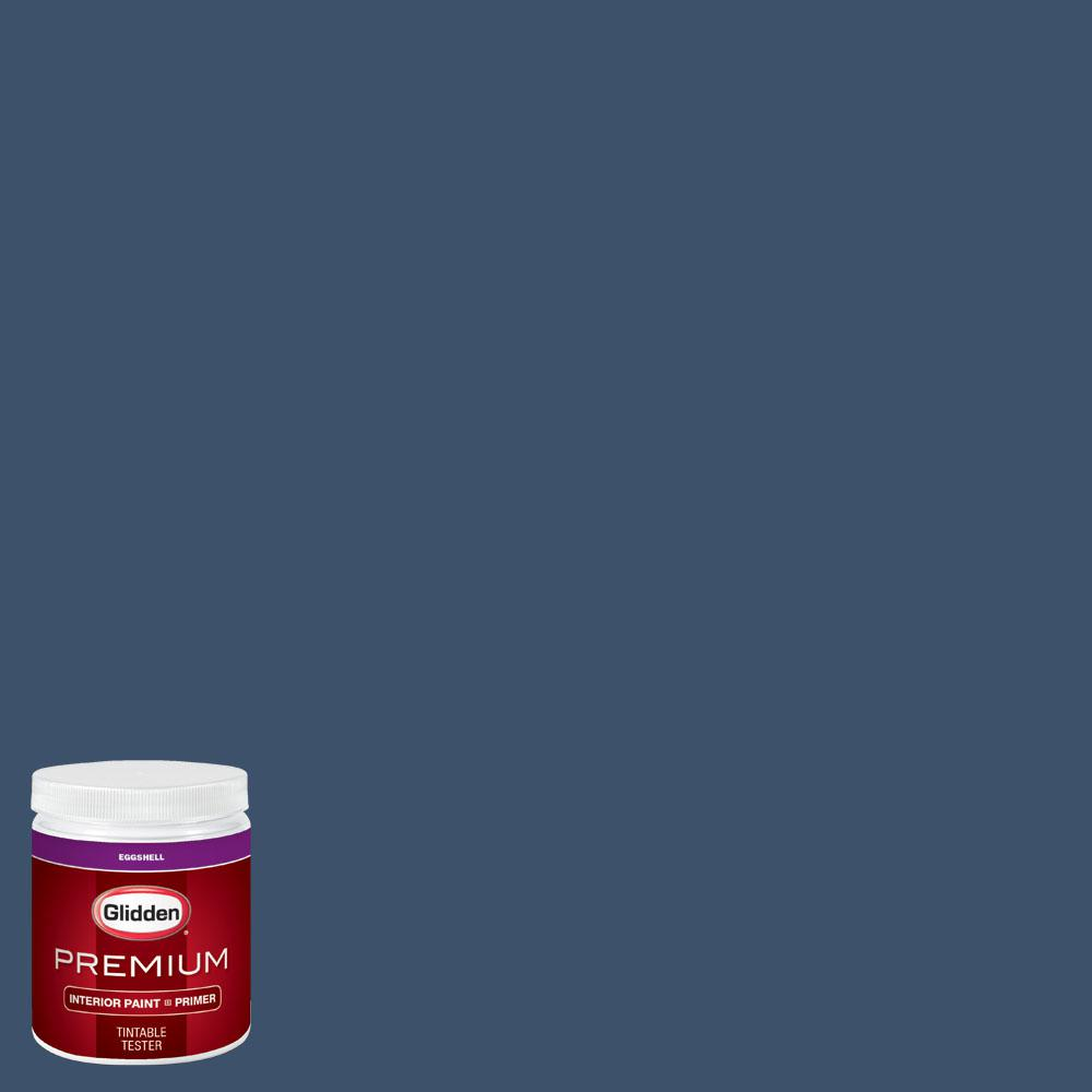 Glidden Premium 8 oz. #wnba-131C Connecticut Sun Blue Eggshell Interior Paint with Primer, Blues
