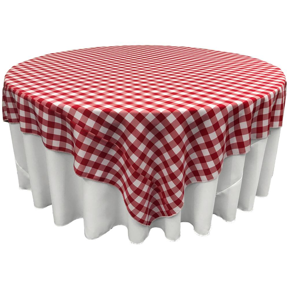 White And Red Polyester Gingham Checkered