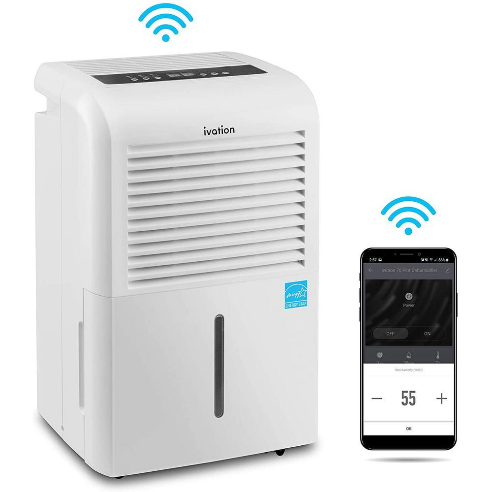 Ivation 50 pt. Smart Wifi Dehumidifier - White