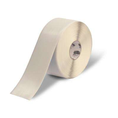 4 in. Safety Floor Tape in Solid White 100 ft. Roll