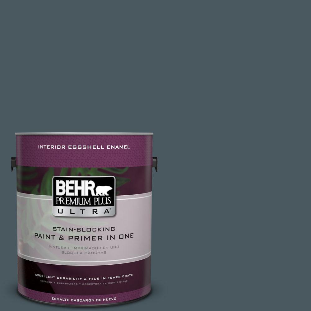 BEHR Premium Plus Ultra 1-gal. #S470-7 Undersea Eggshell Enamel Interior Paint