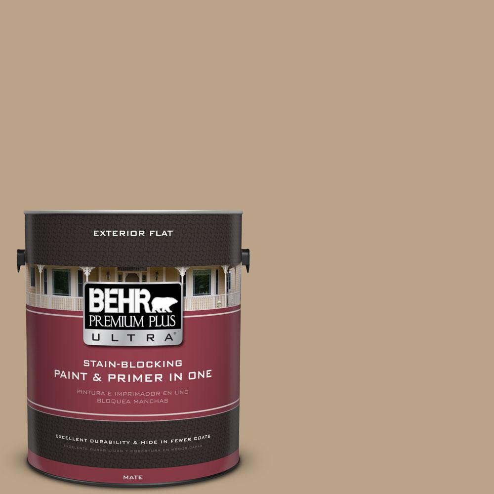 1-gal. #710D-4 Harvest Brown Flat Exterior Paint