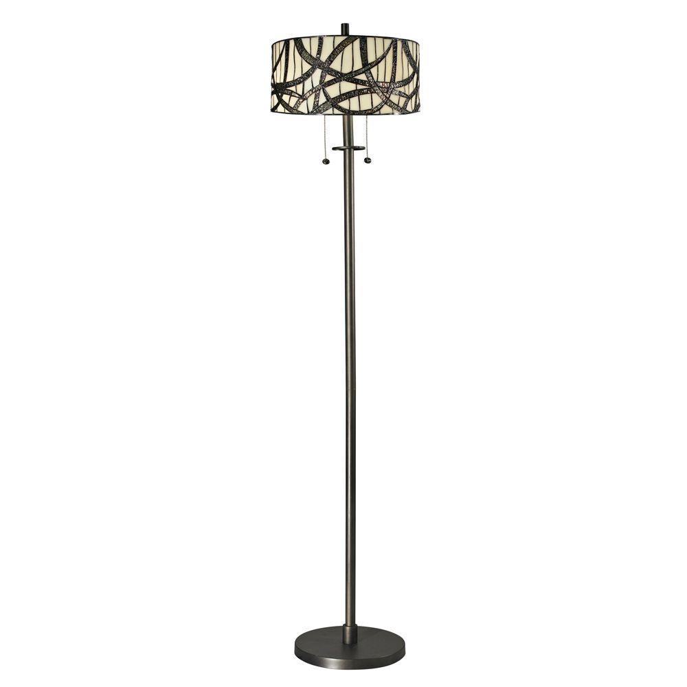 Dale Tiffany 61 in. Willow Cottage Dark Bronze Floor Lamp