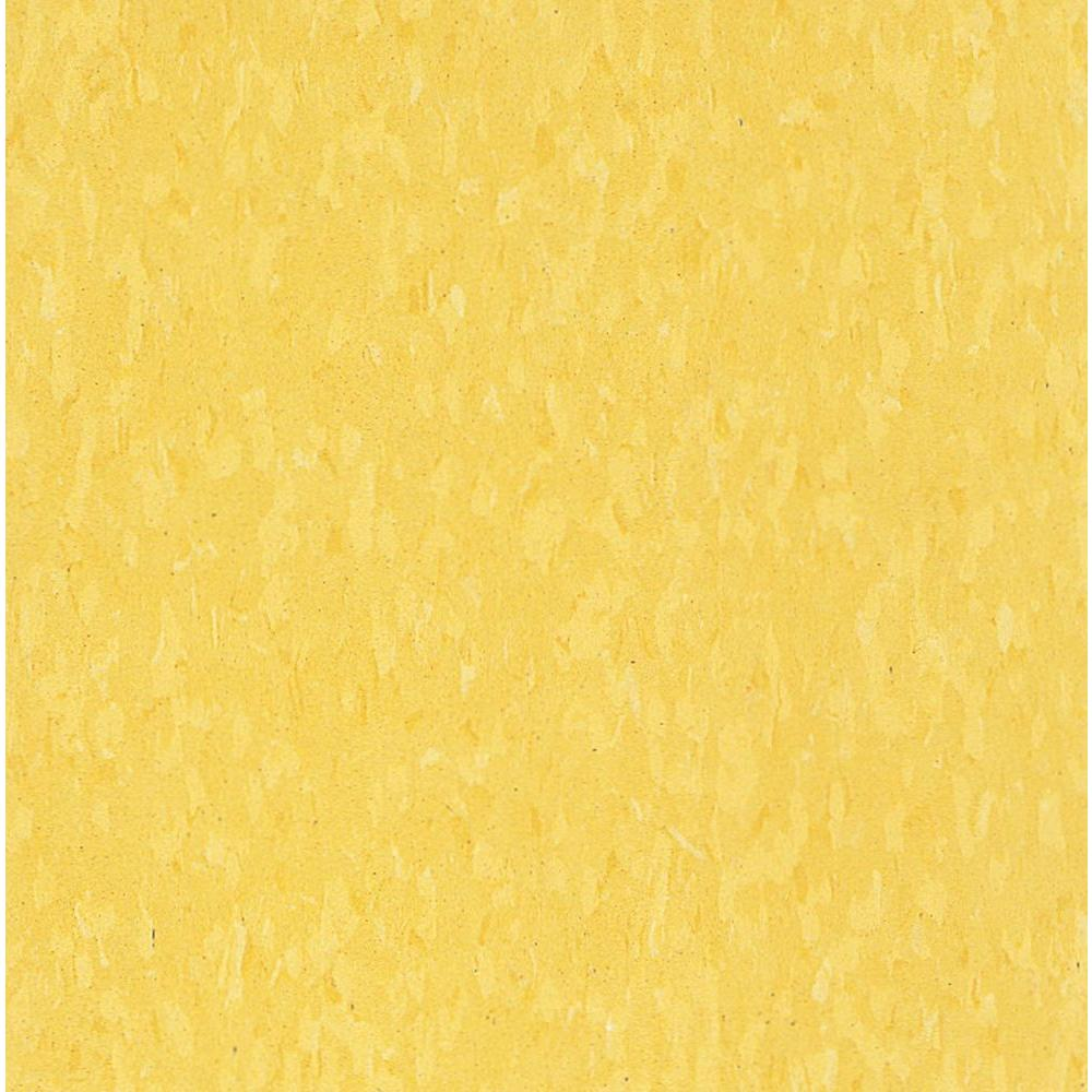 Imperial Texture VCT 12 in. x 12 in. Lemon Yellow Standard