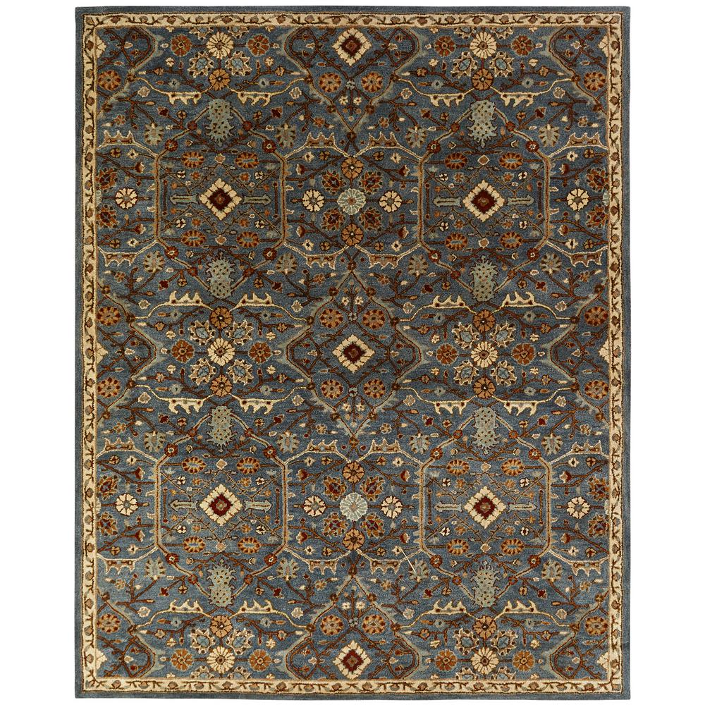 Kalaty Empire Slate Blue 9 Ft X 12 Ft Area Rug Em 297
