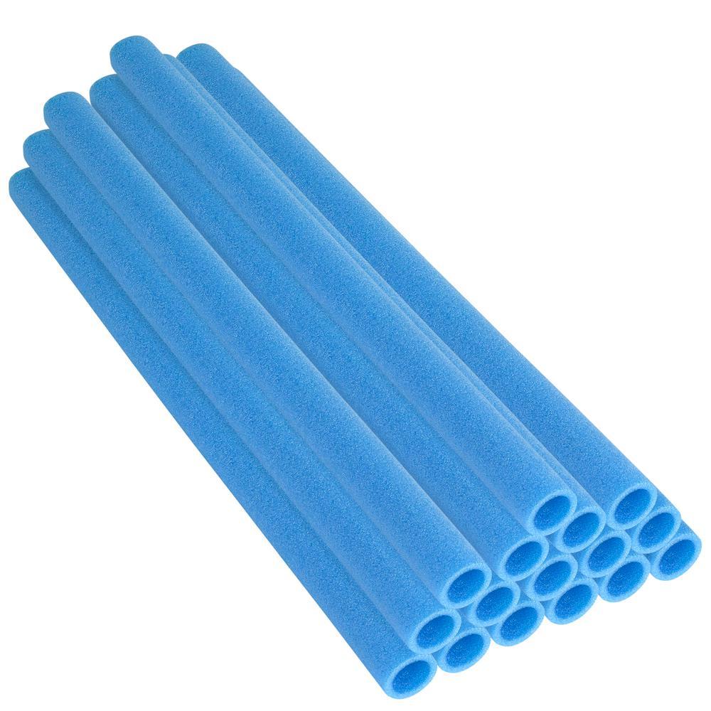 44 in. Blue Trampoline Pole Foam Sleeves Fits for 1.5 in. Dia Pole (Set of 16)