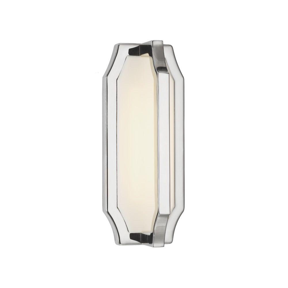 Audrie 1-Light Polished Nickel Wall Sconce