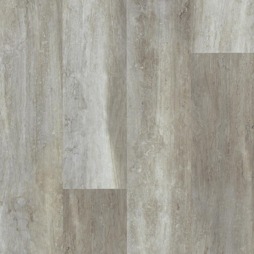 Floorte Jefferson 7 In. X 48 In. Stone Resilient Vinyl