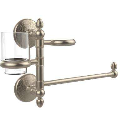 Monte Carlo Collection Hair Dryer Holder and Organizer in Antique Pewter