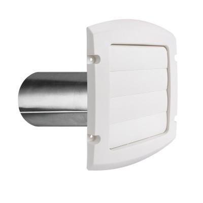 6 in. Louvered Exhaust Hood in White