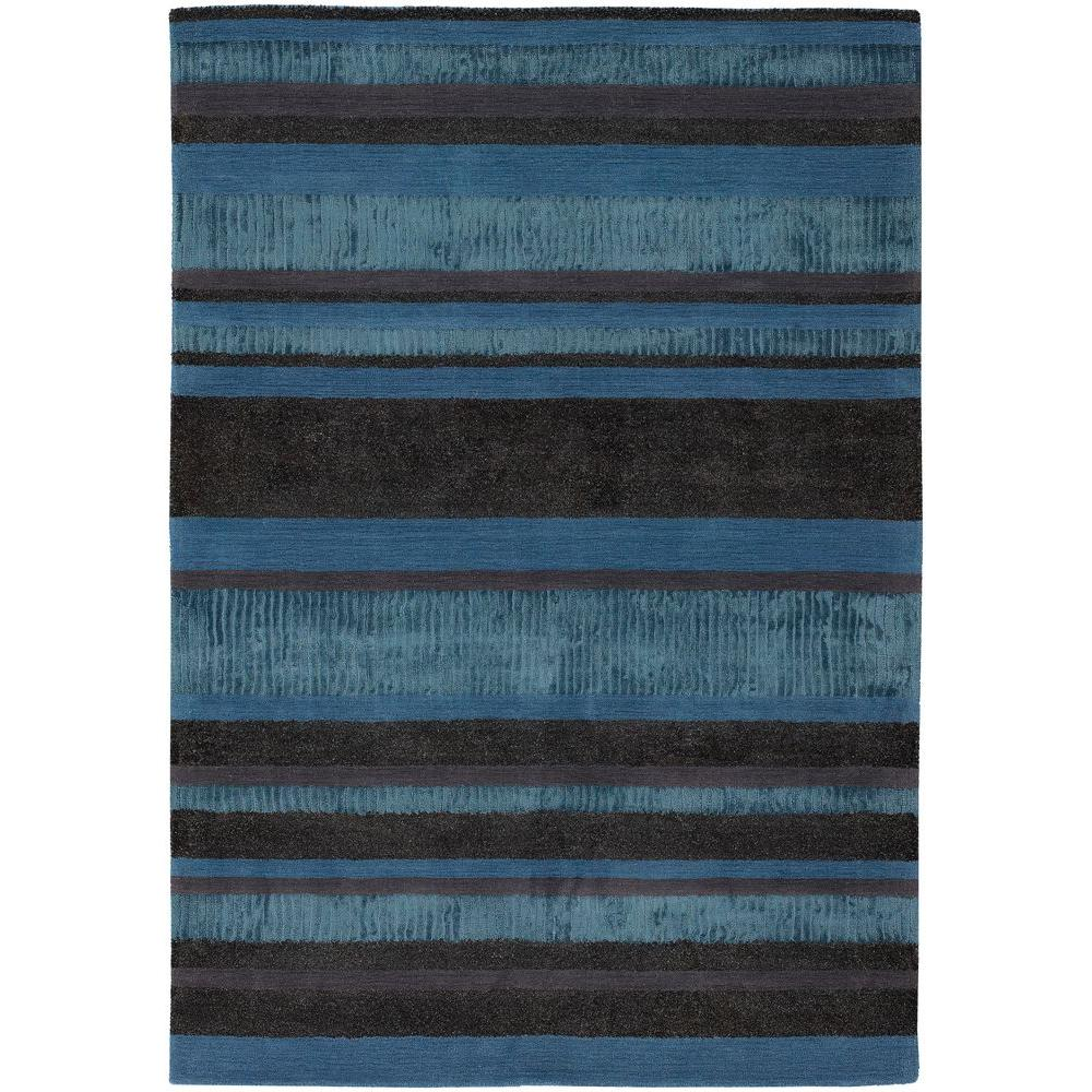 Amigo Blue/Grey/Charcoal 5 ft. x 7 ft. 6 in. Indoor Area