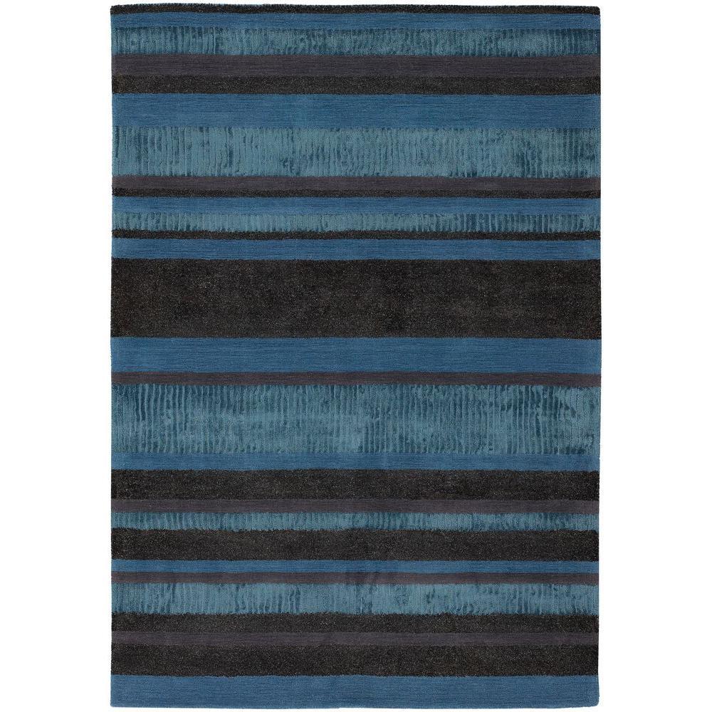 Amigo Blue/Grey/Charcoal 8 ft. x 11 ft. Indoor Area Rug