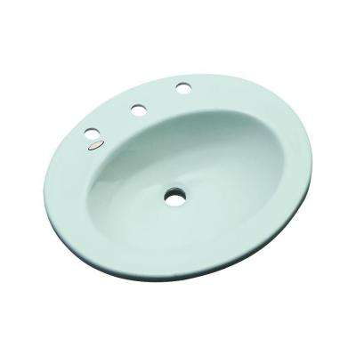 Austin Drop-In Bathroom Sink in Seafoam