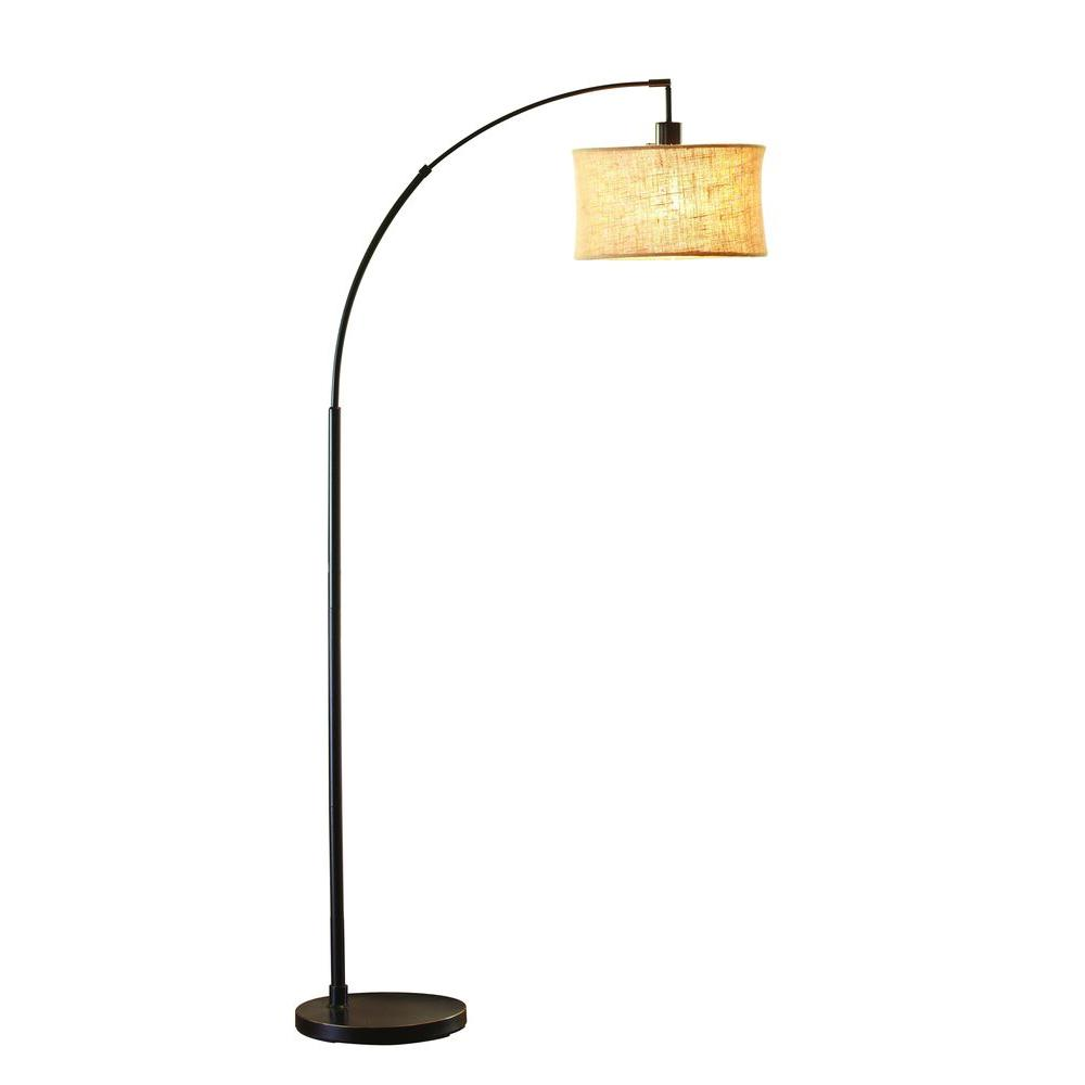 H Antique Bronze Arc Lamp