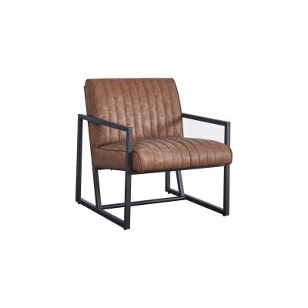 Brown Modern High Quality PU Steel Accent Arm Chair