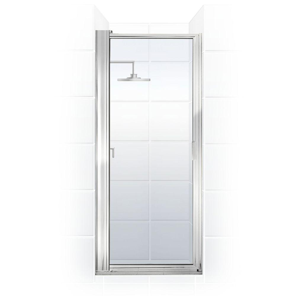 Coastal Shower Doors Paragon Series 35 in. x 69.5 in. Framed Maximum Adjustment Pivot Shower Door in Chrome with Clear Glass