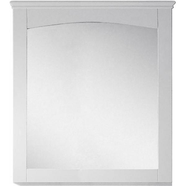 16-Gauge-Sinks 30 in. x 31.5 in. Single Framed Wall Mirror in Lacquer-Paint White