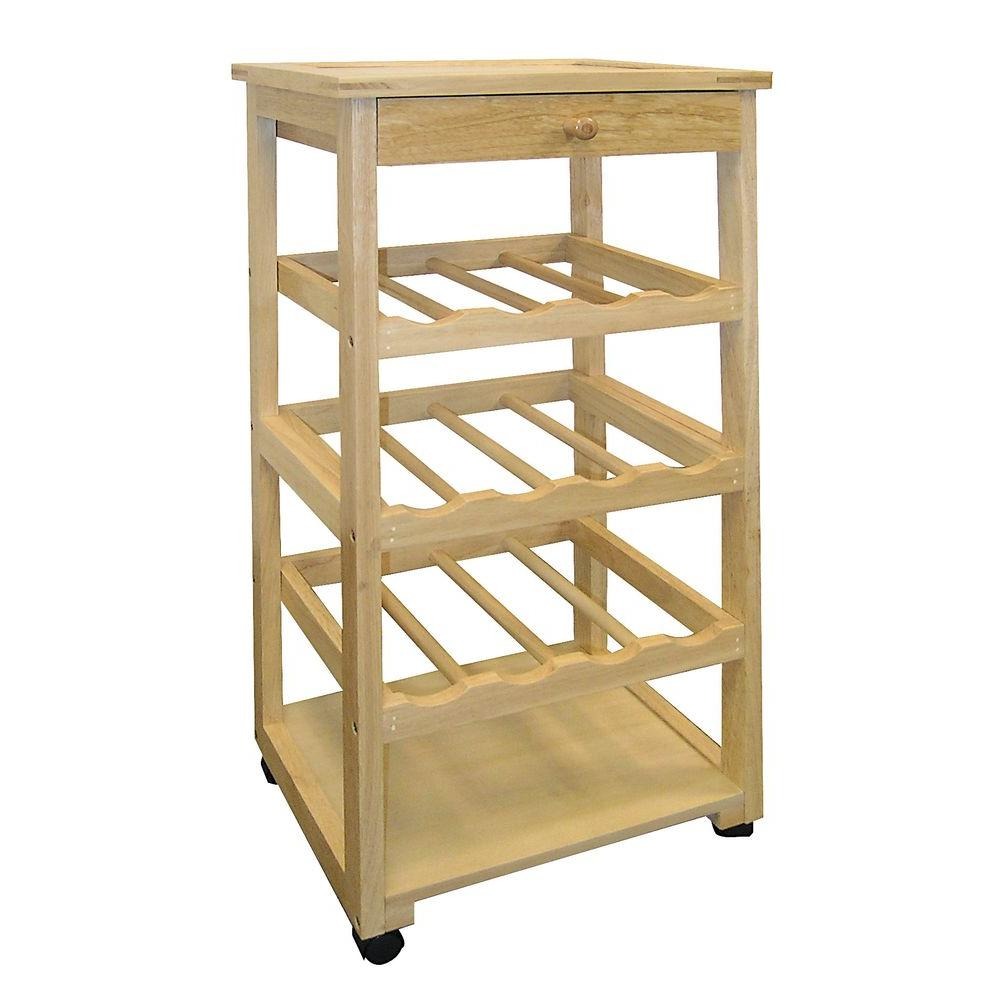 Home Decorators Collection Unfinished Wine Cart with Storage-F-2002 ...