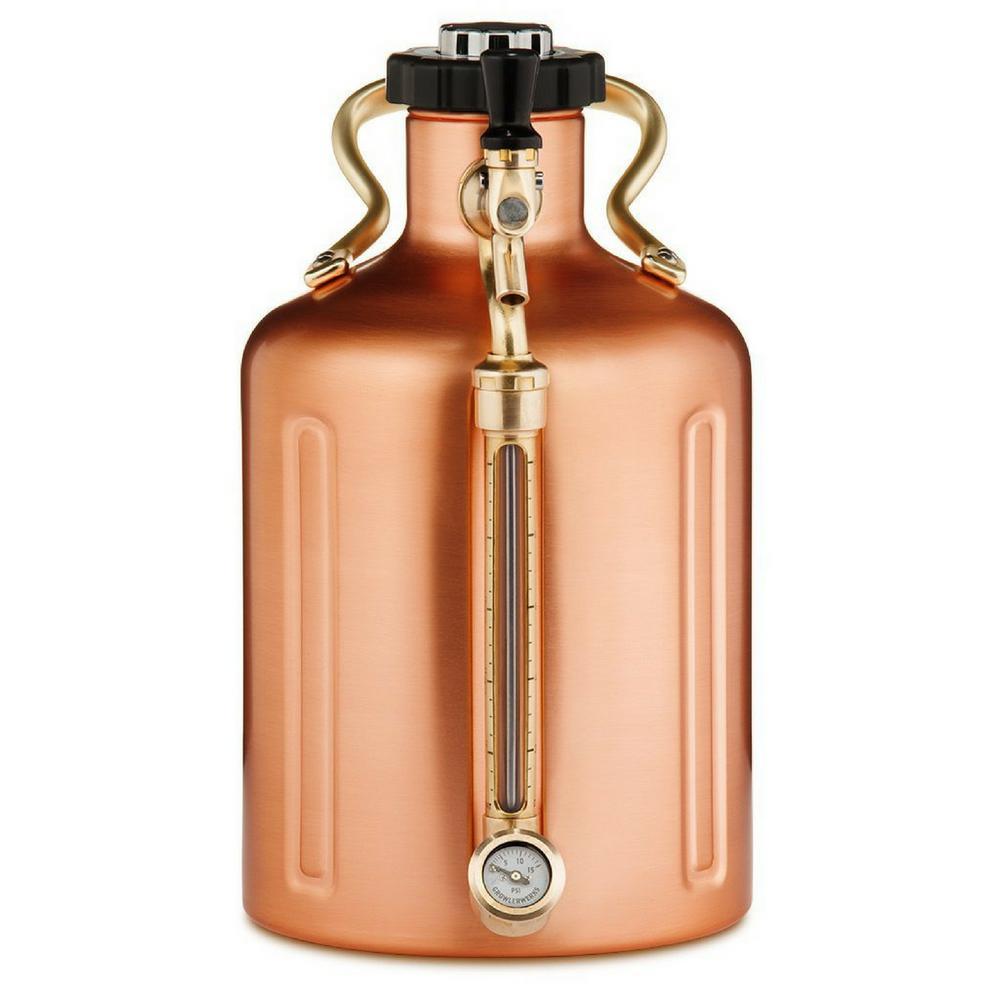 uKeg 128 oz. Copper Plated Pressurized Growler