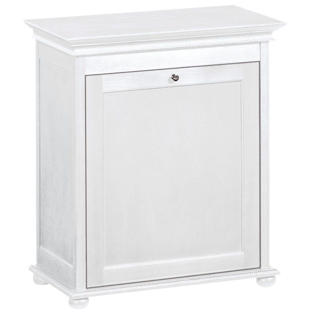 Home Decorators Collection Hampton Harbor 24 In. Single Tilt Out Hamper In  White