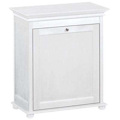 Delicieux Single Tilt Out Hamper In White