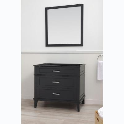 Woodfall 35.20 in. W x 21.60 in. D Vanity Cabinet Only in Dark Charcoal