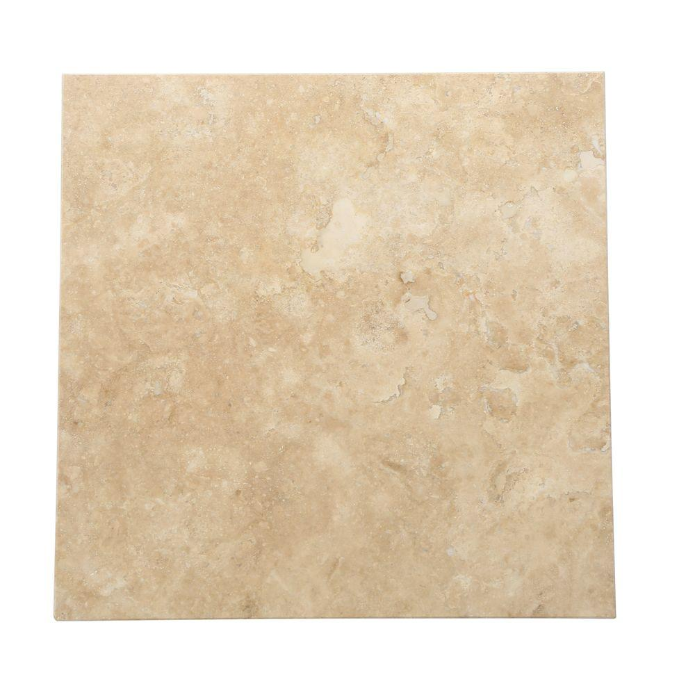 Daltile Travertine Durango 16 In X Natural Stone Floor And Wall Tile 10 68 Sq Ft Case T71416161u The Home Depot