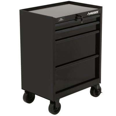 27 in. 4-Drawer All Tool Cabinet, Black