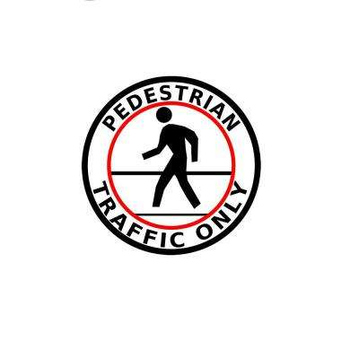 24 in. Pedestrian Traffic Safety Floor Sign