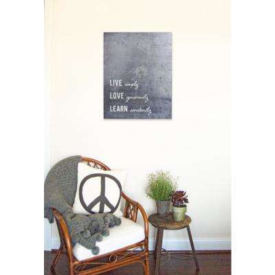 "15.75 in. W x 20 in. H ""Live Simply"" by JLB Printed Wall Art"
