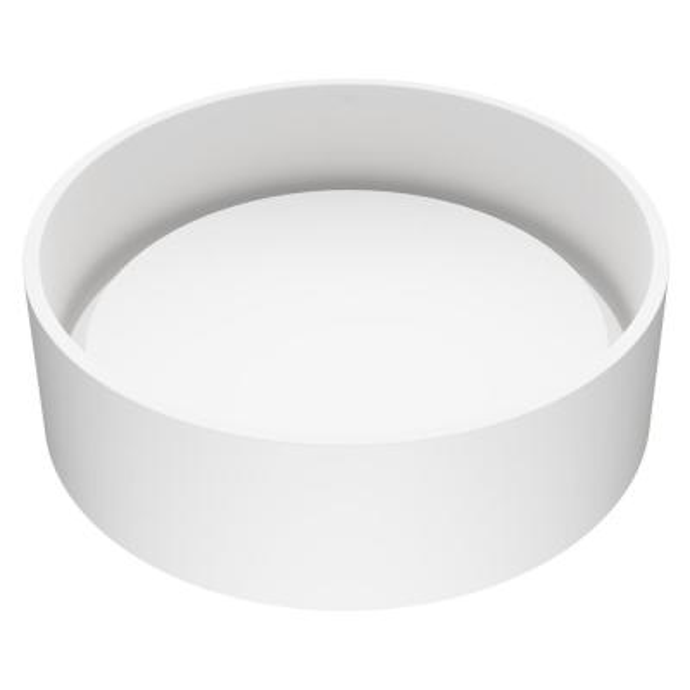 Anvil Round Vessel Bathroom Sink in White Matte StoneTM