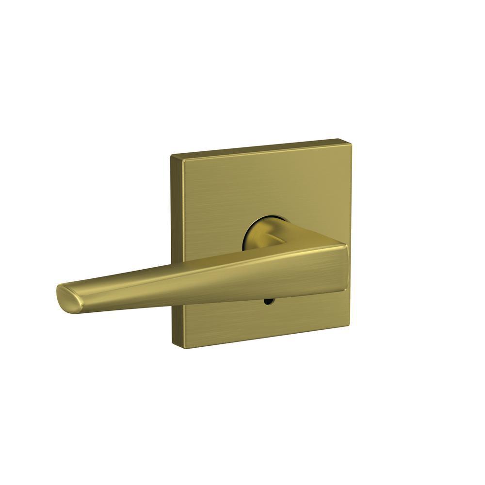 Schlage Accent Bright Brass Right Handed Dummy Door Lever